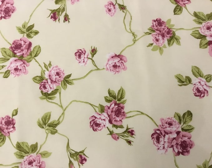 Cotton Fabric rose Ramage height meters 2.80
