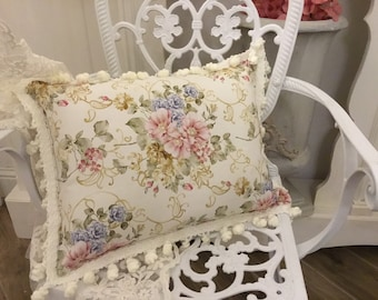 """Flower cushion with chives collection """"the flowers of art nouveau """""""