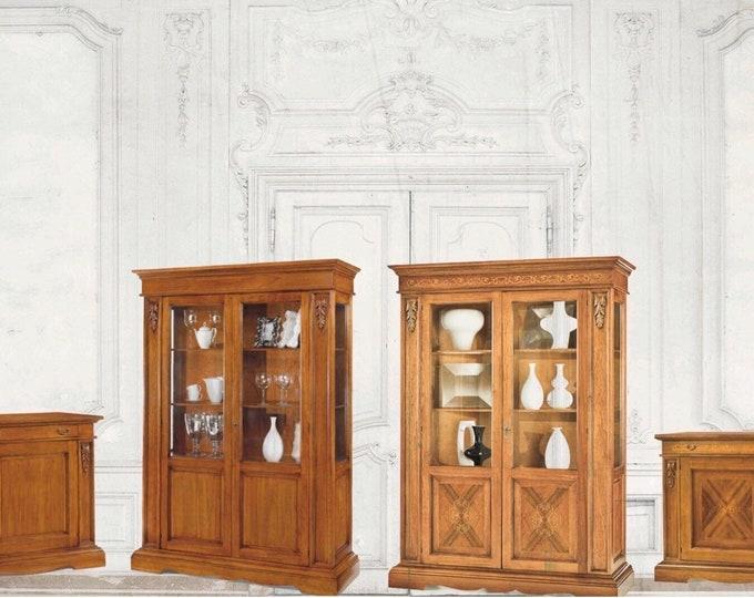 "Walnut wood cupboard ""carving"""