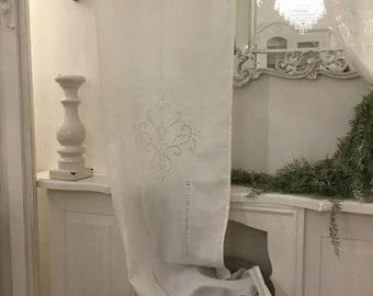 "Precious embroidered glass curtain ""Elisabet"""