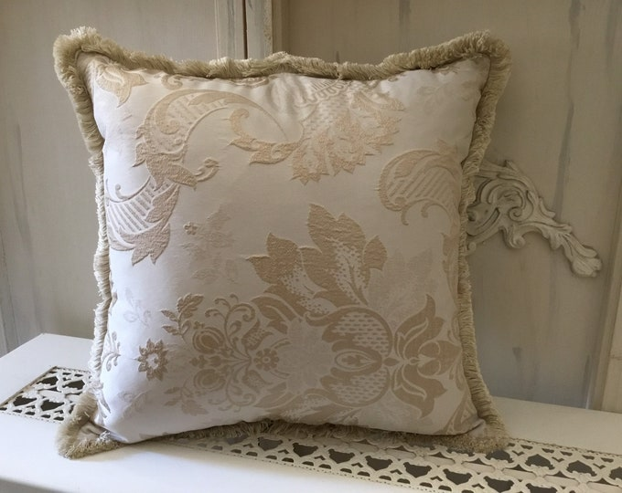 Luxury Italian gold Jacquard pillow