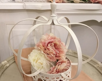 "Wedding vintage Crown ""Princess"" pure White"