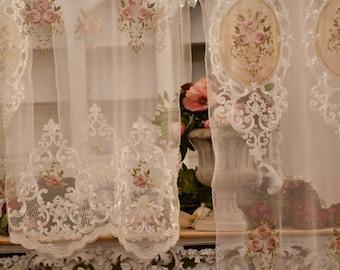 """Window curtain in tulle """"Rose Regali"""""""