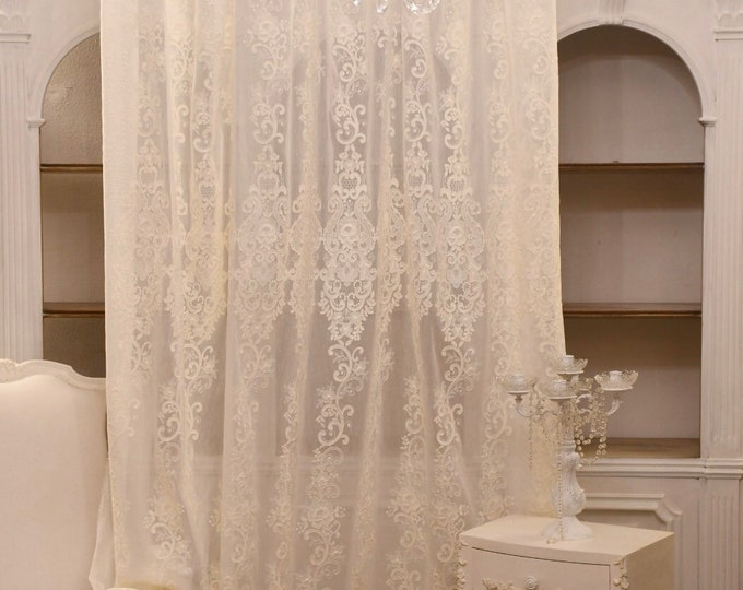 """Embroidered tent """"Marie Antoinette"""" ivory"""