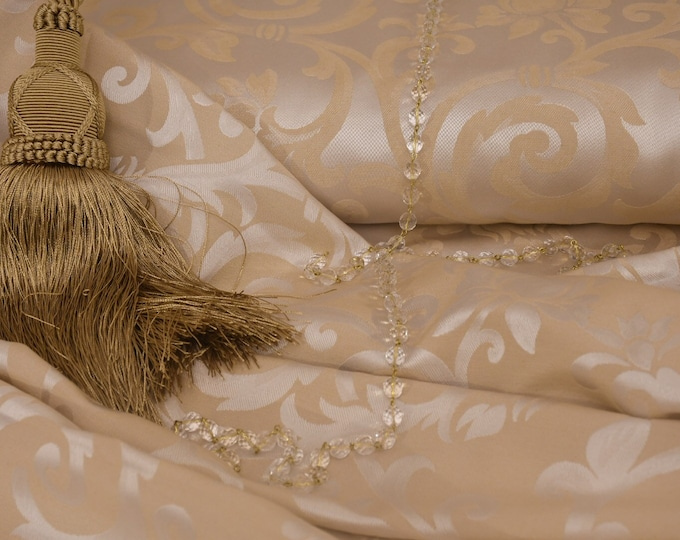 Luxury fabric Jacquard ivory gold