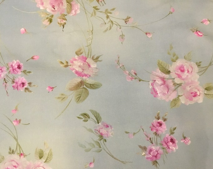 Fabric with painted roses height meters 2.80