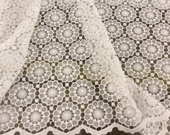macramé White lace Fabric