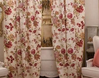 Flower chic flower curtains