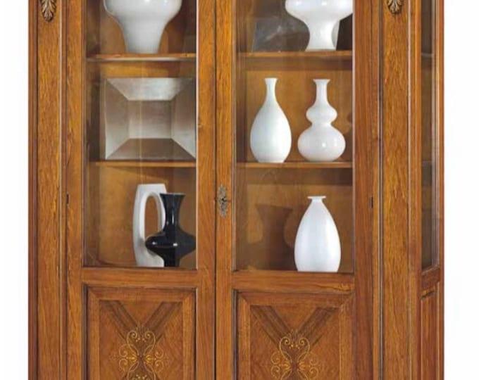 "Walnut wood showcase ""carving"""