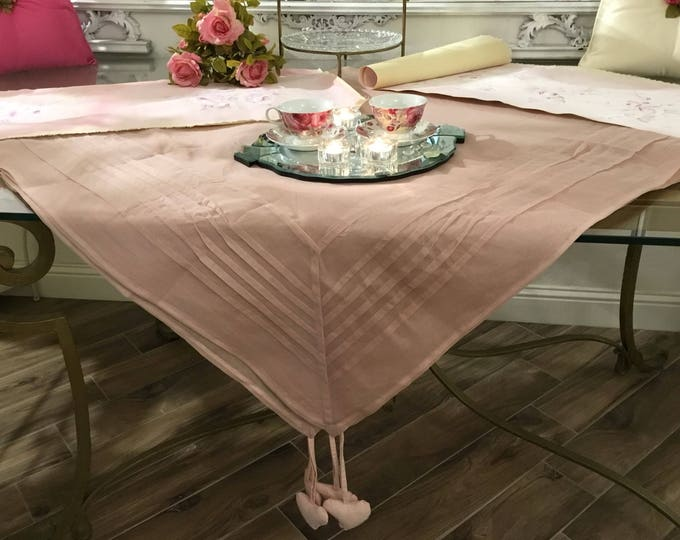 Pink Chic organza Tablecloth