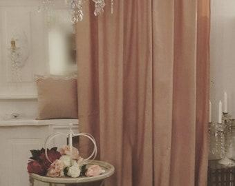 Light Antique Pink Taffeta tent