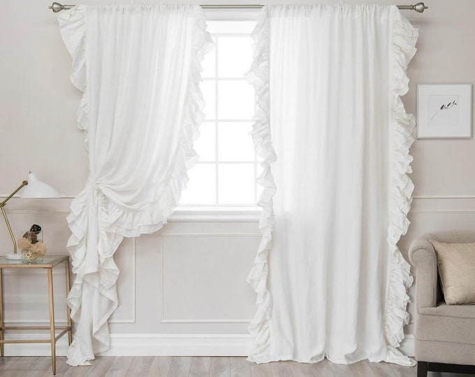 """Voilant curtain in pure cotton percalle collection """"Italian Organic"""""""