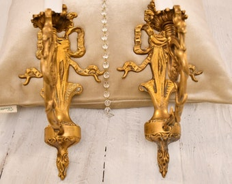 "Ancient pair of 19th-century applique ""Dragons"""