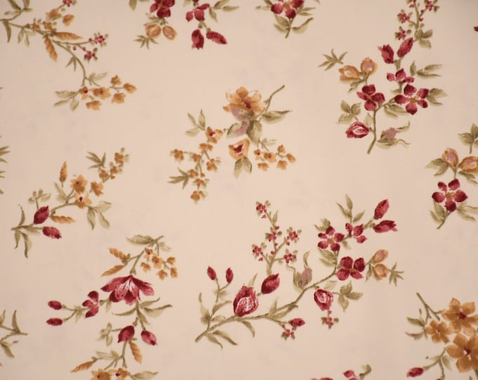 Flower chic flower ramage fabric in double height