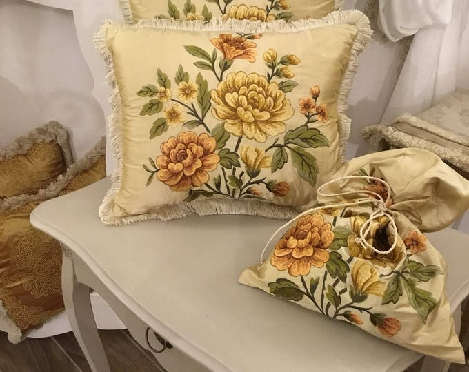Rare luxury silk pillow set