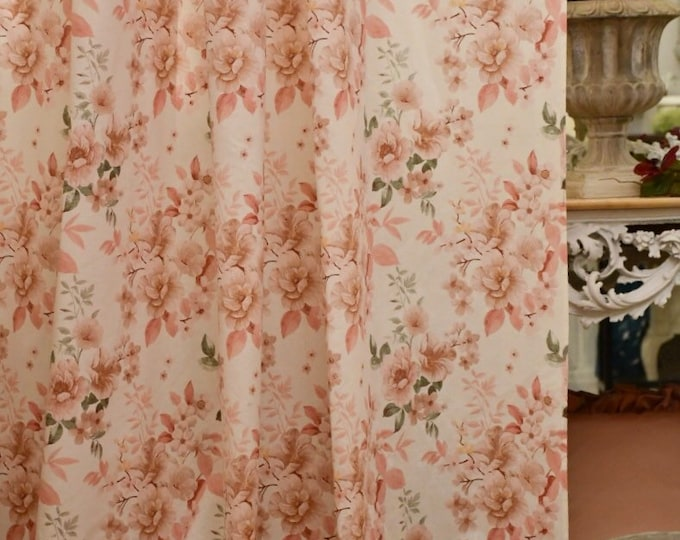 "Rose flower tent, in pure Italian organic cotton ""Sara"""