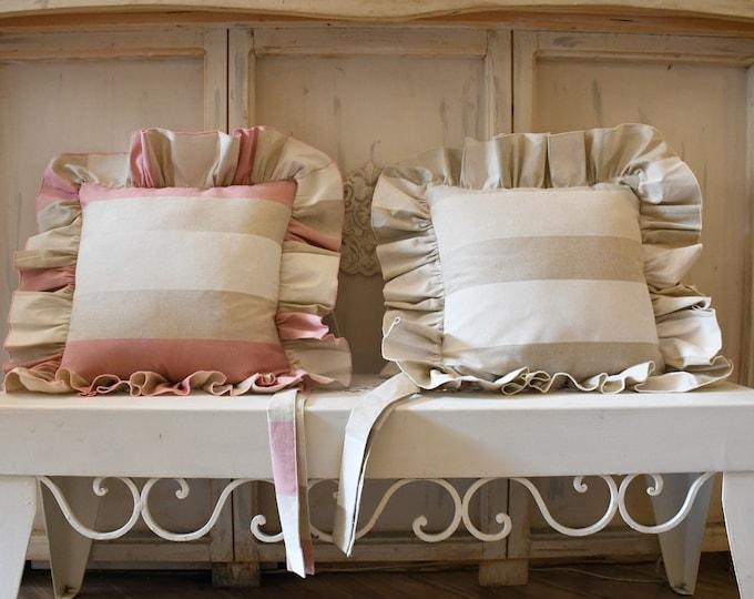 Striped gala pillow