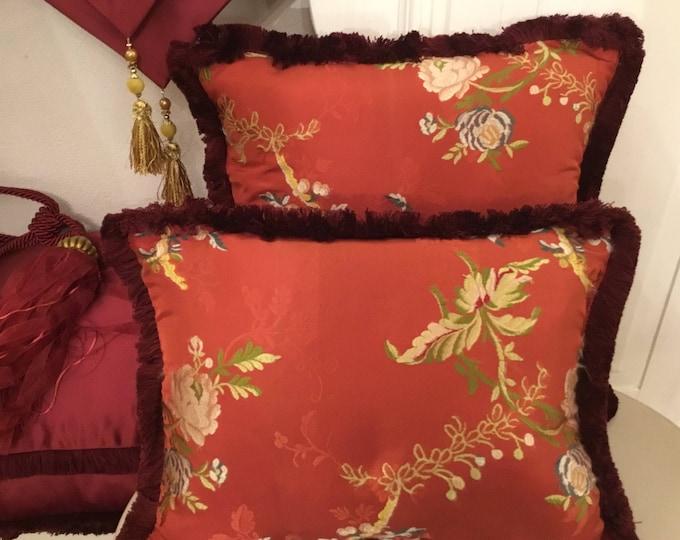 Rare Pure silk pillows set
