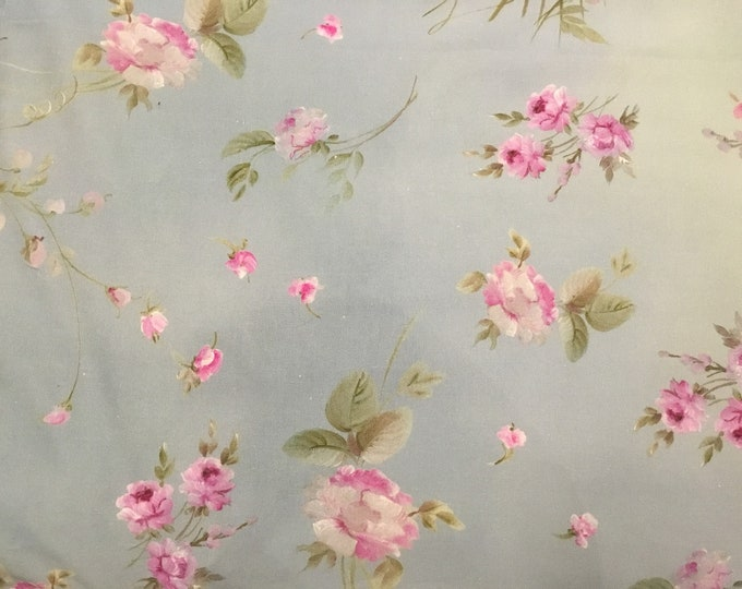 Fabric with painted roses