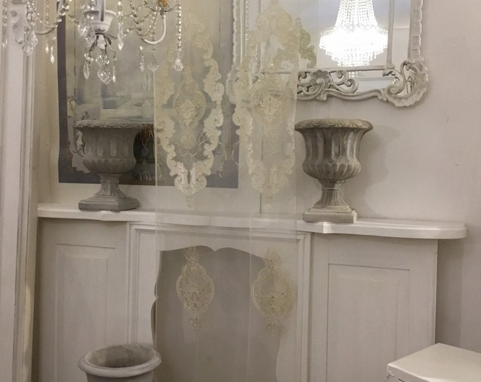 Ivory Victorian glass Curtain