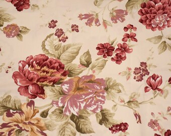 Flower chic fabric large flowers in double height