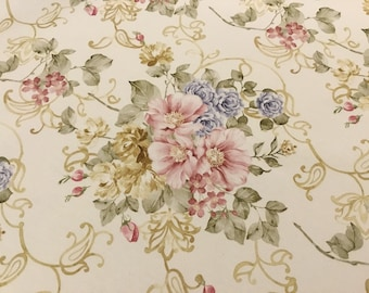 "Cotton Fabric ""The Flowers of ART NOUVEAU"" Height meters 2.80"