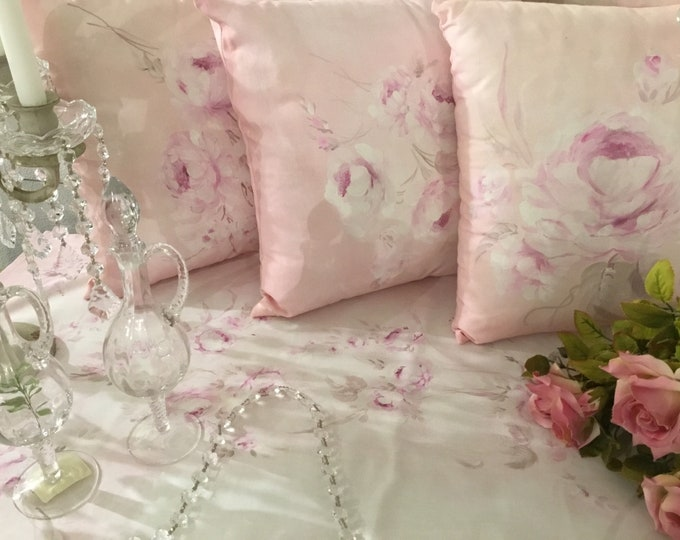 Beautiful pillows with hand painted roses