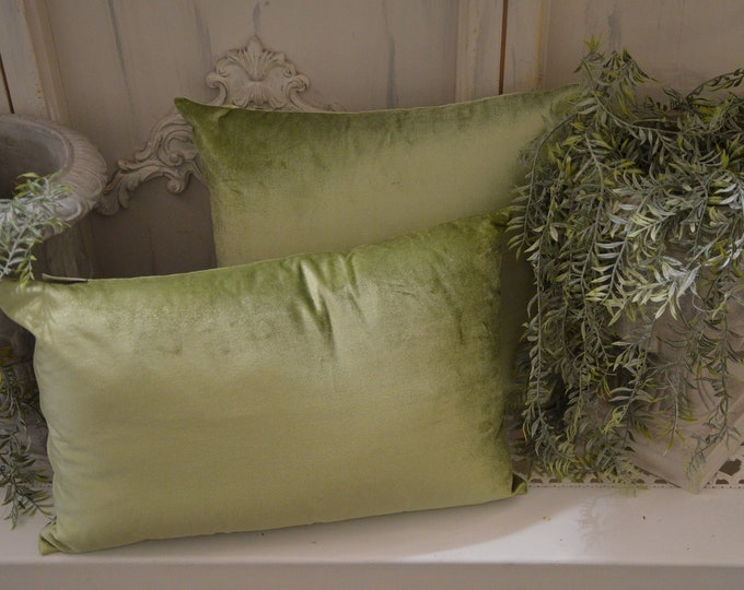 Green Velvet Cushion Italian Style