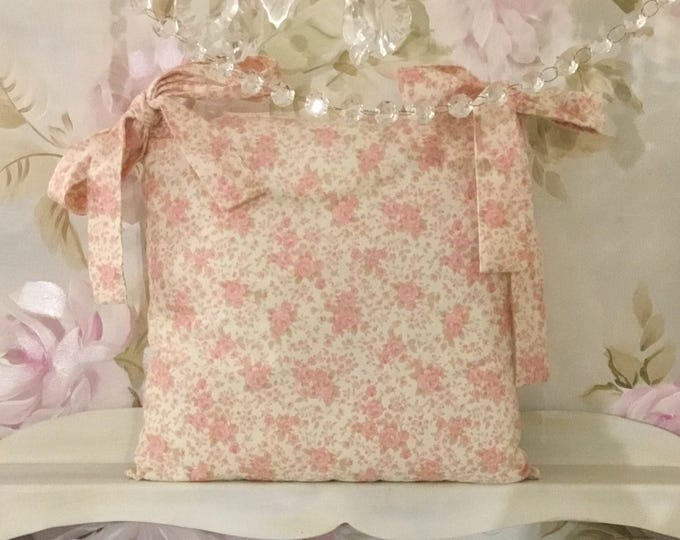 Flower Pillow with Bows