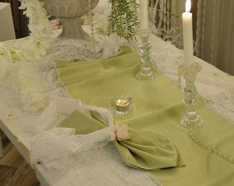 Sage Green Bride Runner