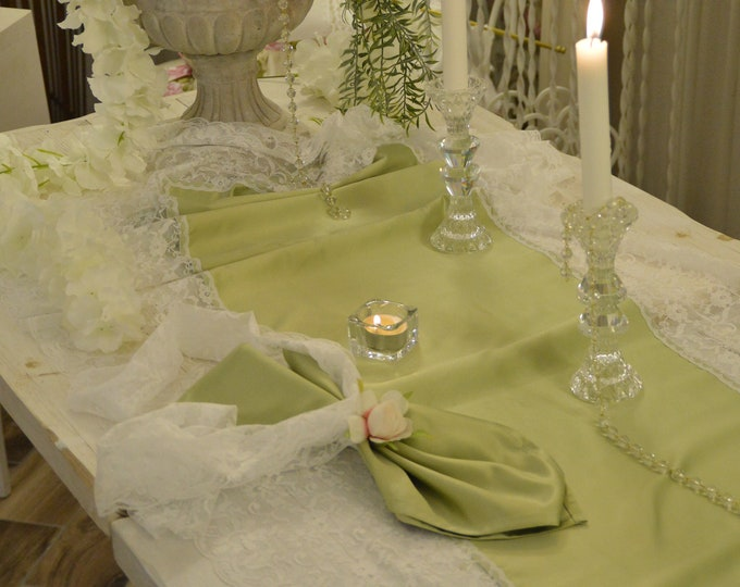 Sage Green Bride Runner