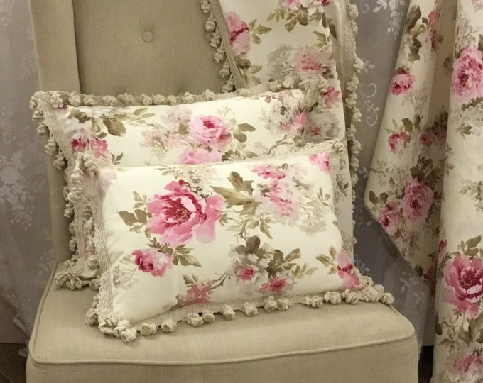 Ivory Flower Chic Pillow