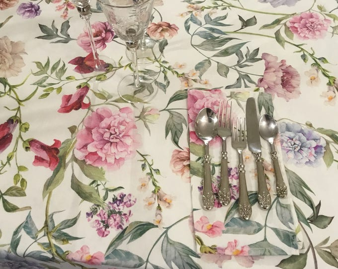 Tablecloths Rose flowers, peonies, lilacs, camellias, dahlias.