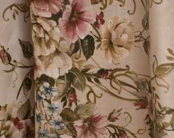 """Cotton fabric """"The flowers of ART NOUVEAU"""" height 2.80 meters"""