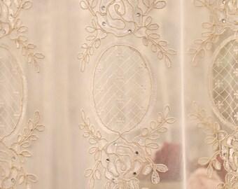"Embroidered tent ""Maria Cecilia ""collection""precious curtains"""