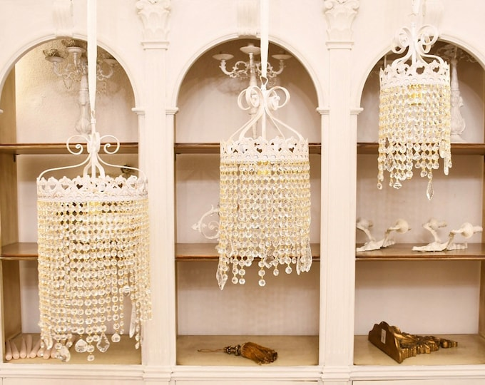 """Crystal drops"" chandelier"