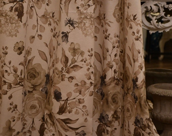 """Rose flower tent, horticultural peonies in pure Italian organic cotton """"Evelin"""""""
