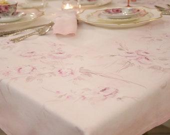 "HAND-painted TOVAGLIA ""ROSE ROSA"""