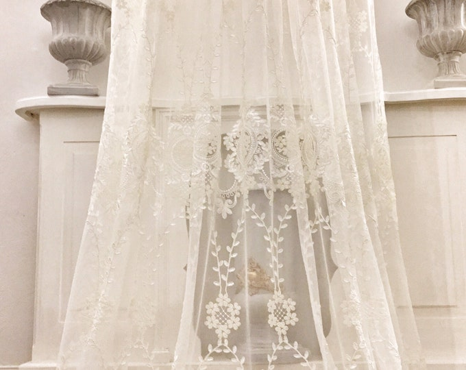 Embroidered Tulle Tent