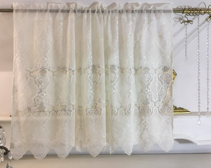 "Valance Embroidered ""CLEOPATRA"" handmade in Italy"