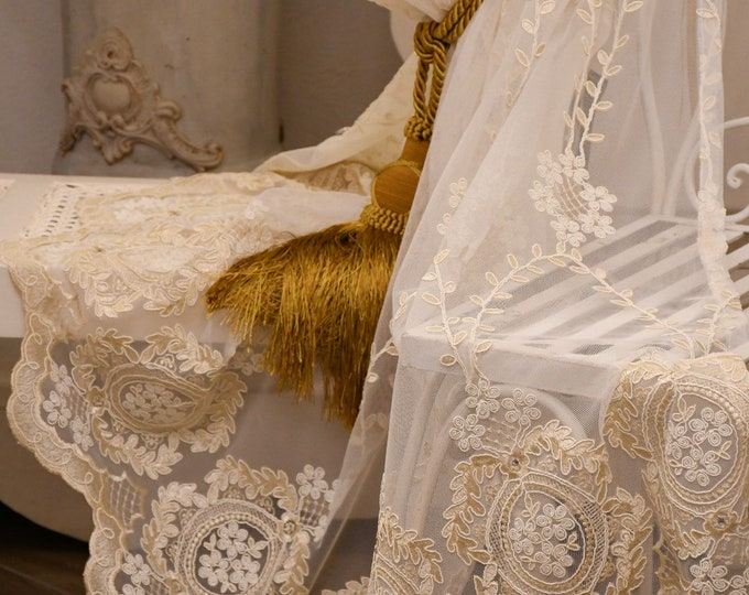 """Embroidered tent """"MARIA VITTORIA"""" collection """"Precious curtains"""""""