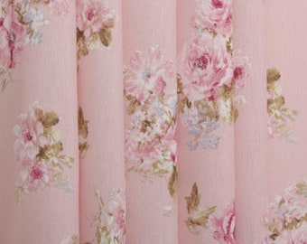 """Flower chic"" pink fabric"