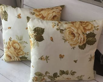 Pillow with Rose shabby