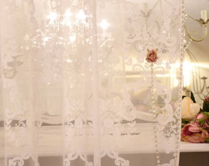 """Tent in tulle shabbychic decoration """"volute"""""""