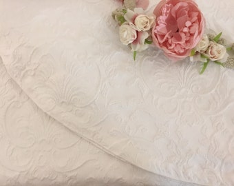 "White cotton piquet Bedspread ""Botticelli"""