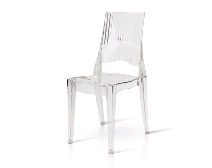 "Transparent chair ""Iris"" set of 4"