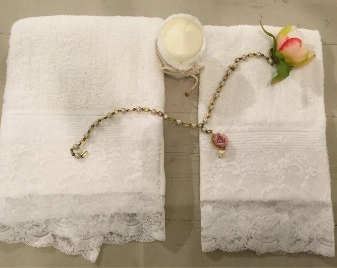 Couple Towels Lace