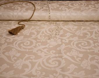 Luxury fabric Jaquard ivory white