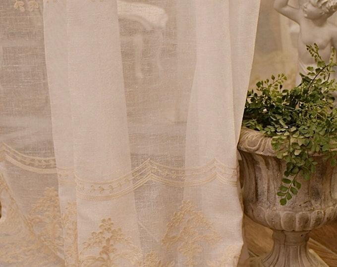 "Linen curtain ""Versailles Marisol ""beige"