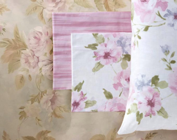 Shabby rose sheets in pure cotton gingham